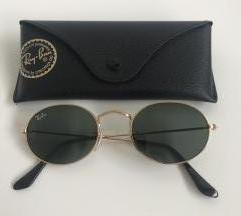 Ray-ban oval sunglasses in gold