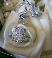 NOVO! Set (pozlata) naušnice + prsten Like Cartier