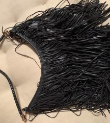 H&M crna torba sa resama