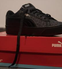 Puma crne, šljokičaste, niske patike, broj 38
