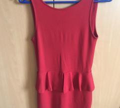 ZARA crvena mini haljina