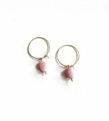 Mjedena ogrlica s ružičastim opalom