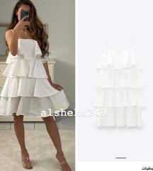 Bijela blogger Zara haljina - s etiketom