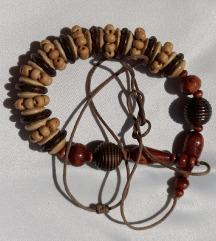 Vintage boho ogrlica na špagi