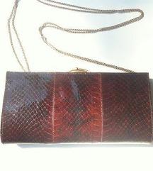 torbica svečana od zmijske kože, vintage