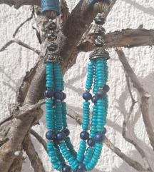 Tirkizno plava etno ogrlica