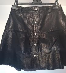 Zara faux leather mini suknja