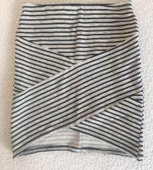 Kratka prugasta uska suknja za izlaske XS/S