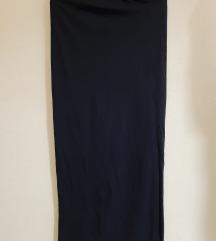 Duga suknja (plava i smeđa)