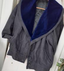 UNIKAT plava zimska suknja&jakna L/