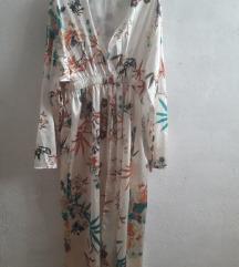 Ljetni kimono cvjetni satenski ogrtač 36 38