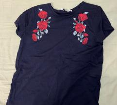 Majica kratki rukav s ružama