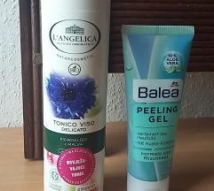 L'Angelica tonik i Balea peeling gel