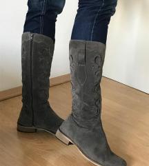 Čizme - Antilop sive-kaubojske sare