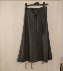 MANGO midi suknja, visoki struk