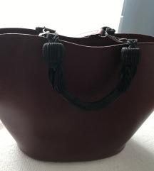 Bordo crvena torba od prave kože