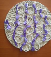 Reveri biserni+lila mašnica
