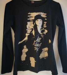 crna majica s printom S M