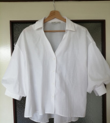 Bijela bluza PULL&BEAR, S