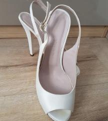 Satenske unikatne sandale NOVO