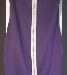 Ljubičasta haljina sa zatvaračem