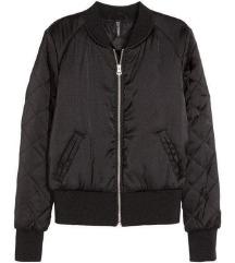 Short satin bomber jacket