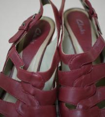 CLARKs prava koža sandale, sniženo%%, uklj. Tisak