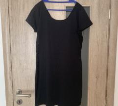 Crna haljina kratki rukav, L - 44/46