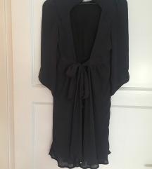 ZARA tamnoplava haljina otvorenih leđa
