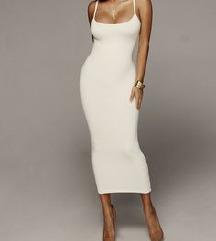Jluxlabel bijela midi haljina