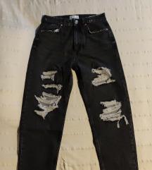 Zara Women Ripped mom fit jeans vl. 38