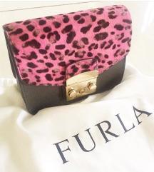 Sivo roza leopard Furla torbica