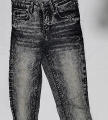 Zara skinny jeans sive S