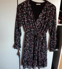 Nova crna cvjetna haljina