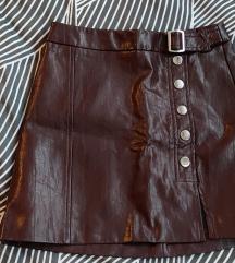 Bershka kožna suknja