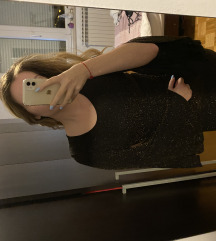 Svecana haljina zlatno crna
