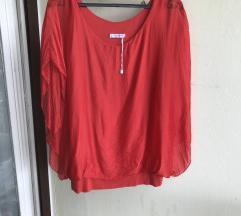Bluza crvena od svile Novo nikad noseno