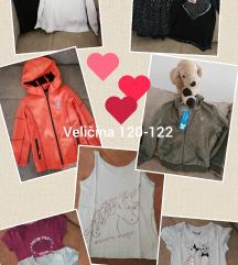 Lot odjeće, veličina 120-122