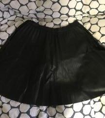 Zara crna kožna suknja