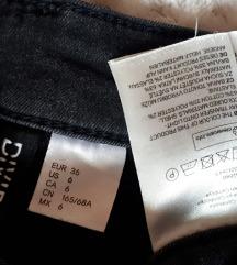 NOVE h&m jeans crne hlačice