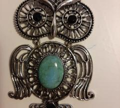 Ogrlica sa srebrnom sovom