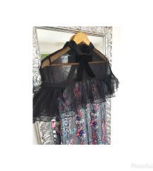 Nova self-portrait floral vine mini haljina