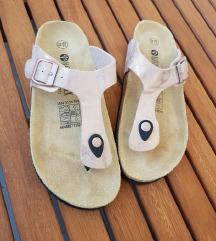 NOVO / roze ljetne kožne sandale / šlape