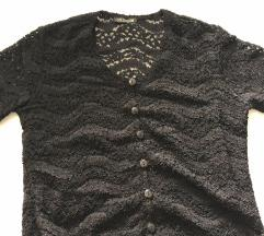 Čipkasti crni top