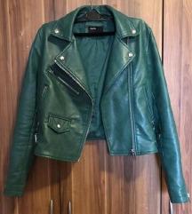 Zelena kozna jakna