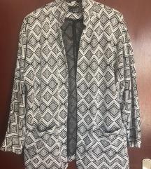 Oversized Mana jakna/sako s crno-bijelim uzorkom
