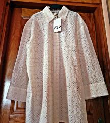 Predimenzionirana košulja sa azurom Zara