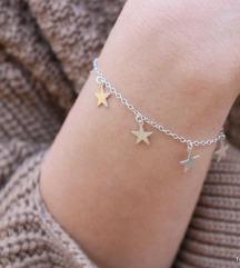Narukvica od pravog srebra sa zvjezdicama 💫
