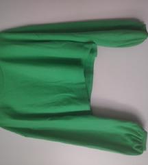 neon zelena crop top majica