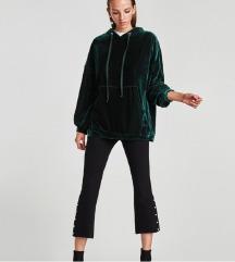 Zara majica Velvet hoodie